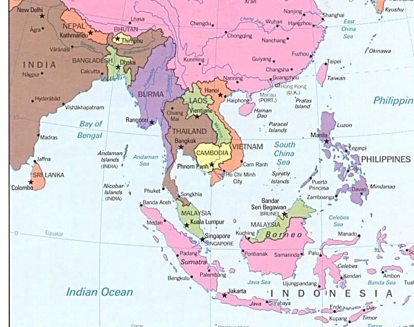 Peta Asia Tenggara Dan Keterangannya  www.imgarcade.com